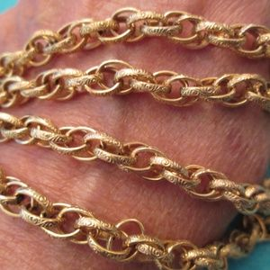 "Designer 12kt.gold filled HEAVY 24"" Chain>Vintage"